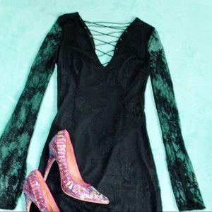 tobi ~ one night black lace dress